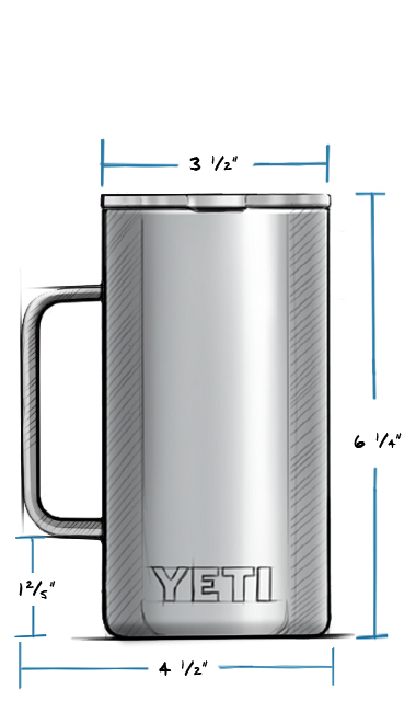 Rambler 24 oz Mug with Standard Lid